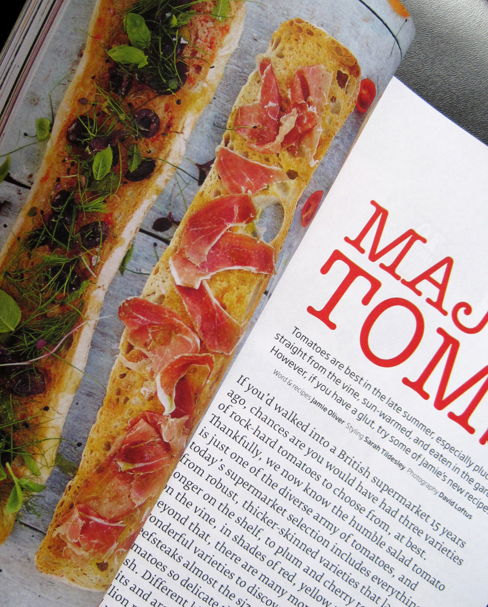 Jamie Oliver Magazine recipe inside the magazine