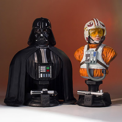San Diego Comic-Con 2017 Exclusive Star Wars 40th Anniversary Darth Vader & X-Wing Pilot Luke Skywalker Classic Mini Busts by Gentle Giant