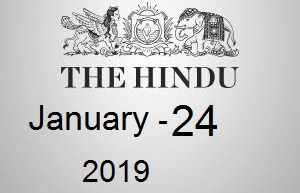 The Hindu Newspaper Today 24 January 2019 Download PDF