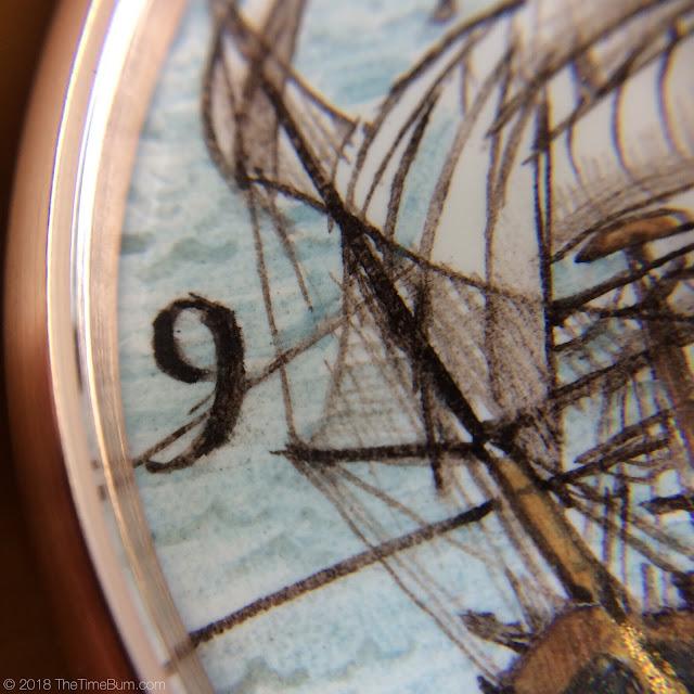 Ferretti Timepieces Amerigo maiolica watch macro