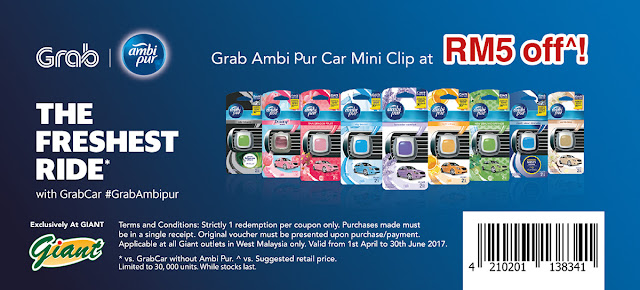 Grab Ambi Pur Car Mini Clip Giant Coupon Code Discount Promo