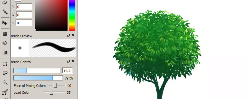 firealpaca tree painting