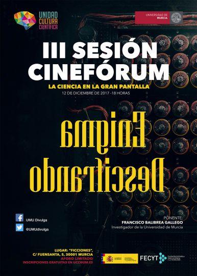 """III sesión del cinefórum """"La Ciencia en la gran pantalla""""."""