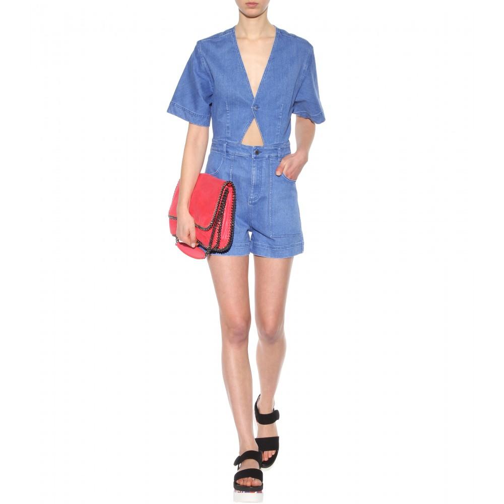 denim, Fashion Faves, gap denim jumpsuit, stylespotter, alexa chung, stella mccartney denim romper,
