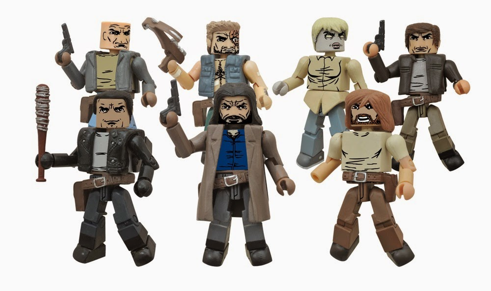 "The Walking Dead Minimates serie 7 (set Toys""R""Us)"