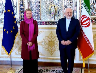 European Union's foreign policy chief Federica Mogherini in Tehran.