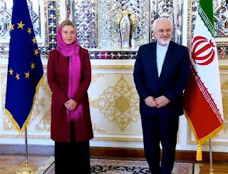 Ms. Mogherini, the High Representative of the EU for Foreign Affairs and Security Policy, in Tehran.