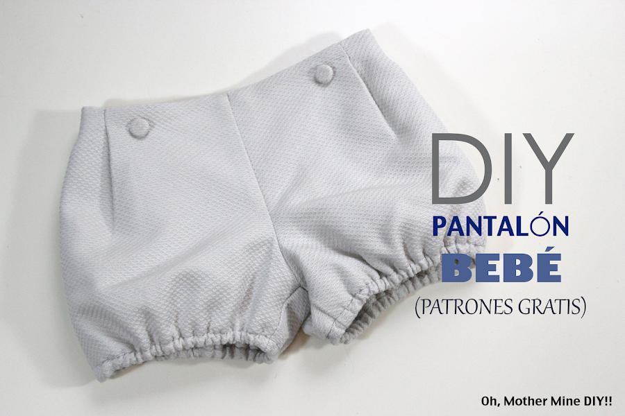 DIY Costura cómo hacer un pantalón de bebé (patrones gratis)