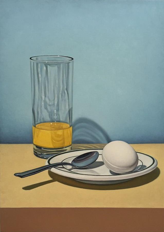 Imgenes Arte Pinturas Bodegones con Frutas Vasos y Copas de Cristal Pinturas de Tom Gregg
