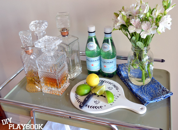 We found this awesome bar cart- here's how to dress it up in your home.