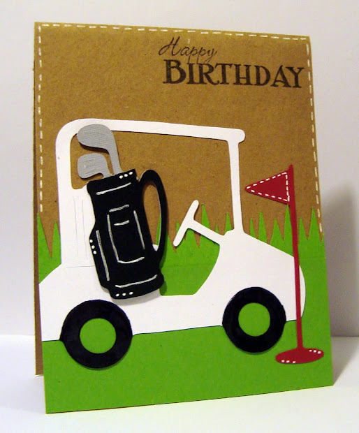 Golf Happy Birthday Card Cricut