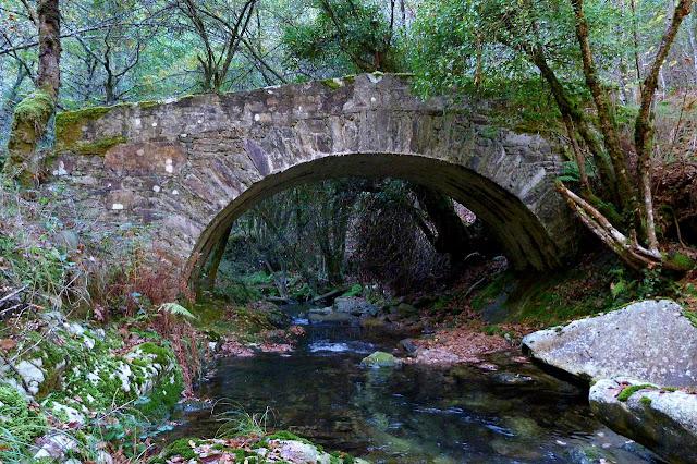 Puente sobre el Río Ahío - Ruta del Silencio - Los Oscos