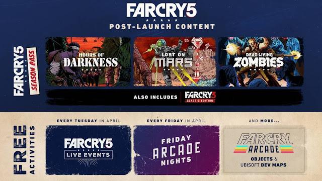 يوبيسوفت تكشف تفاصيل ما بعد إطلاق لعبة Far Cry 5 و نظرة على محتوى Far Cry Arcade و المزيد ...