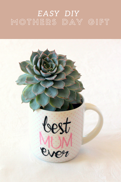 Easy DIY Mothers Day mug planter