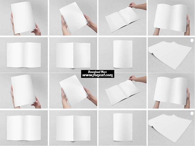 Magazines, catalogs : US letter brochure mock-up