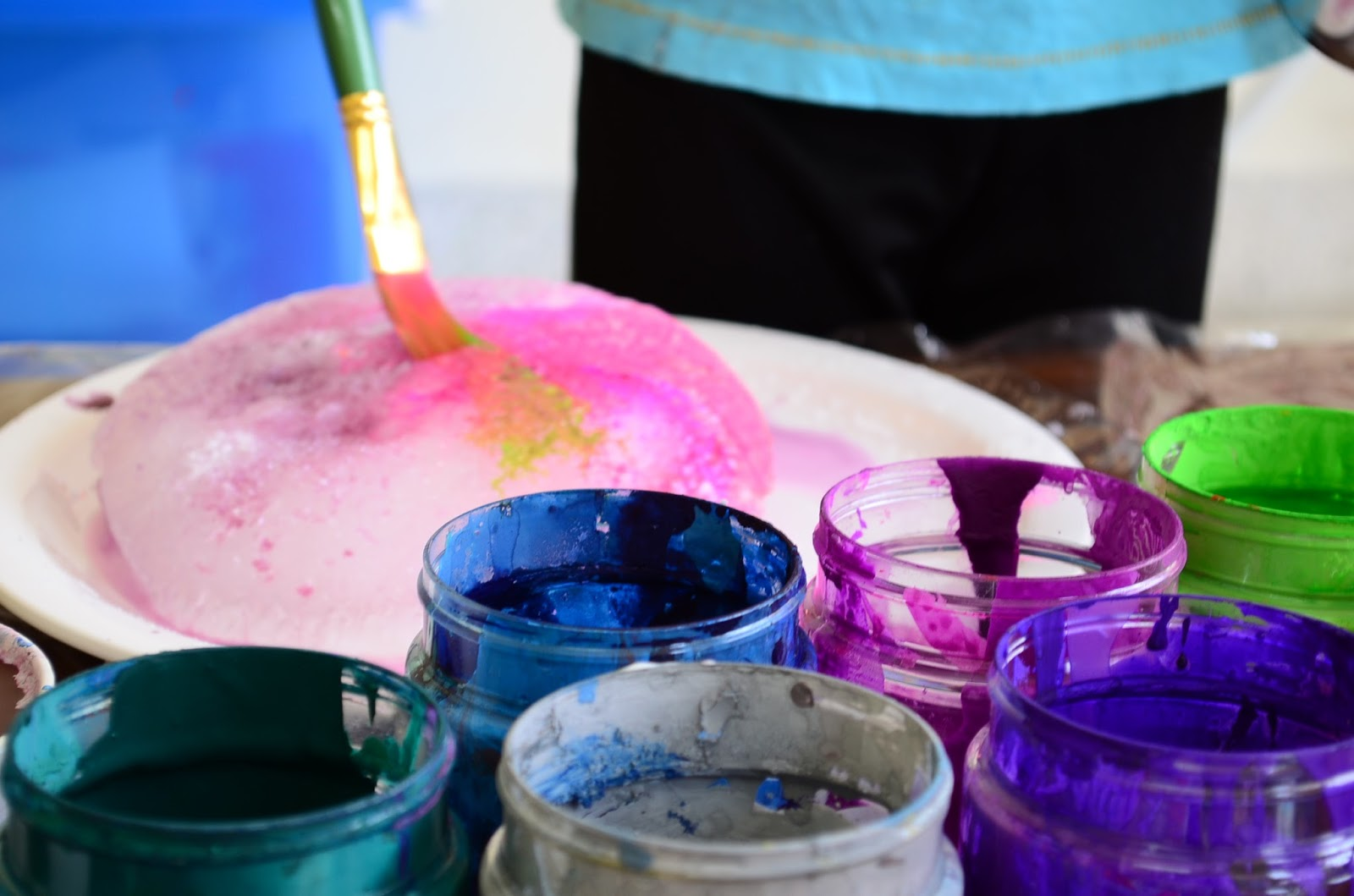 The Practical Mom:Paint with Ice, Salt & Sugar