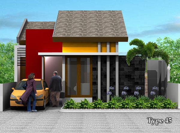 Contoh Desain Rumah Minimalis Type 45  Rumah  Minimalis