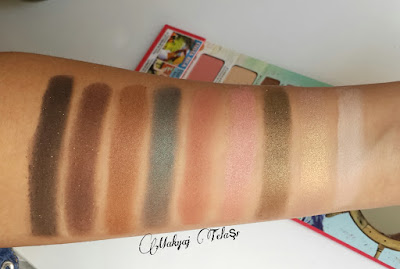 THE BALM VOYAGE 2 FAR SWATCH