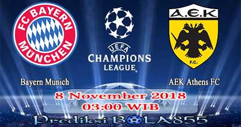 Prediksi Bola855 Bayern Munich vs AEK Athens FC 8 November 2018