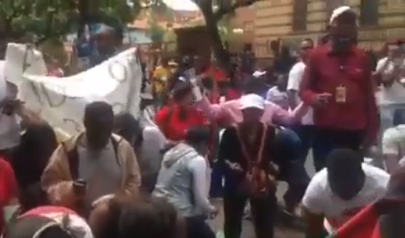 Video: Wealthy Malawi pastor, Prophet Shepherd Bushir church members fire hot prayer outside the court as himself and his wife are arraigned for fraud & money laundering