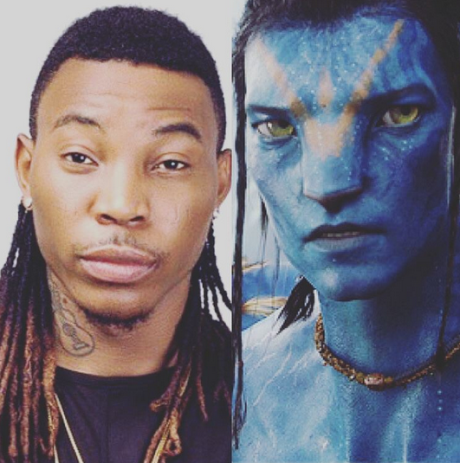 Lol...Solidstar Thinks He Looks Like Avatar Character [See Photo]