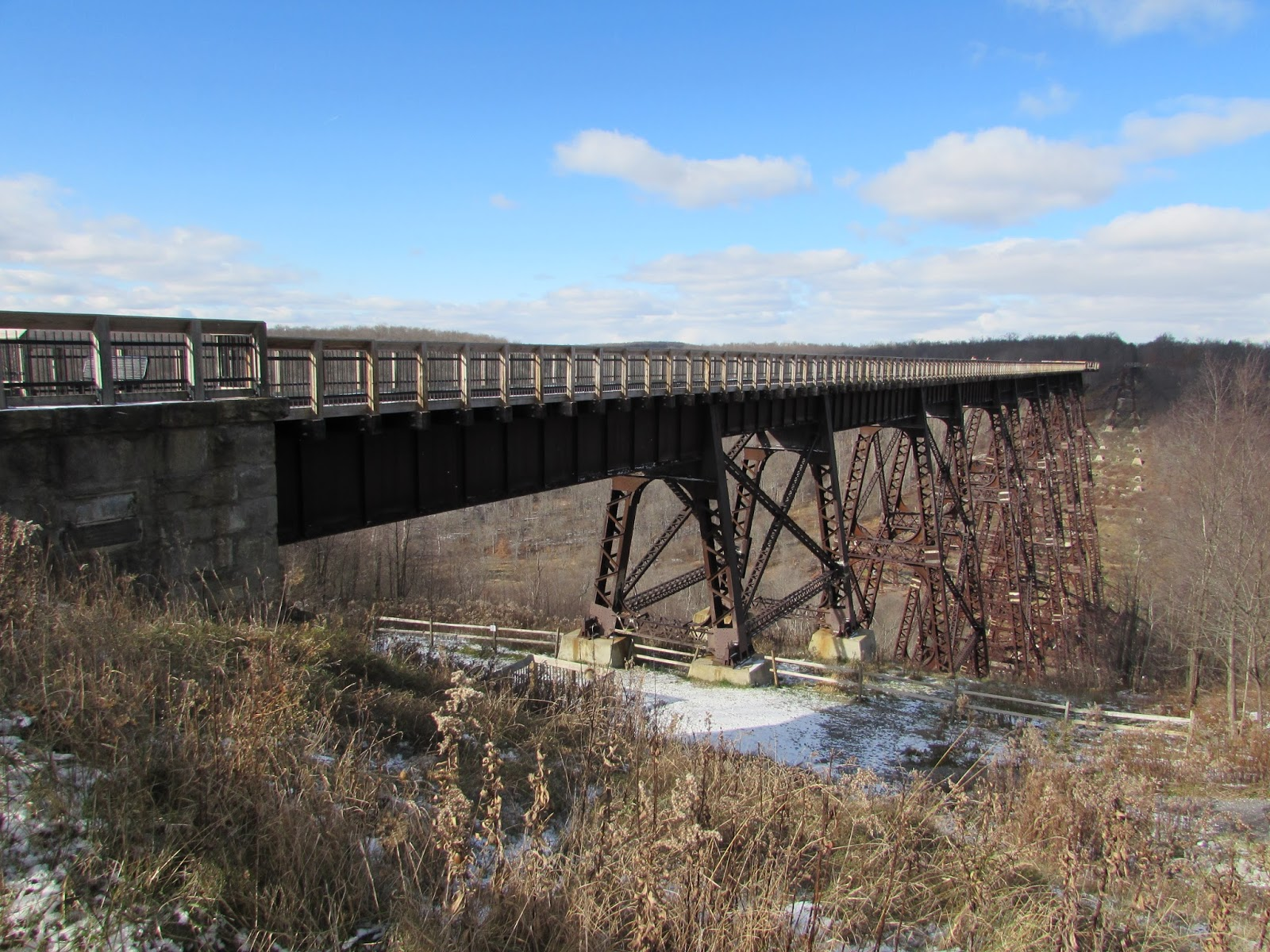 Kinzua Bridge State Park With A Touch Of Winter Interesting Pennsylvania And Beyond