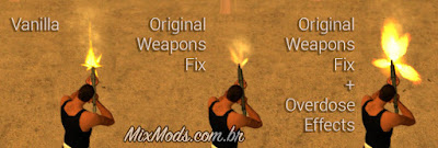 corrigir posição da mão armas gta sa