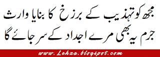 Mujh Ko Tehzeed Ky Barzakh Ka Banaya Waares Juram Ya Bhi Mery Ajdaad Ky Sar Jaye Ga