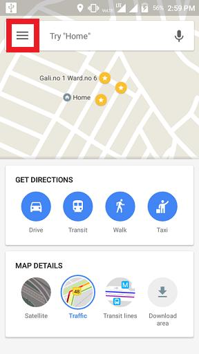 Delete Google Maps History on
