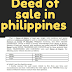 Deed of sale in philippines in doc and pdf