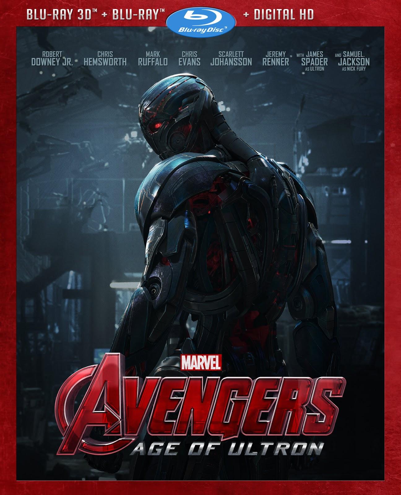 Avengers Era de Ultron (2015) 1080p BD25 3D Cover Caratula