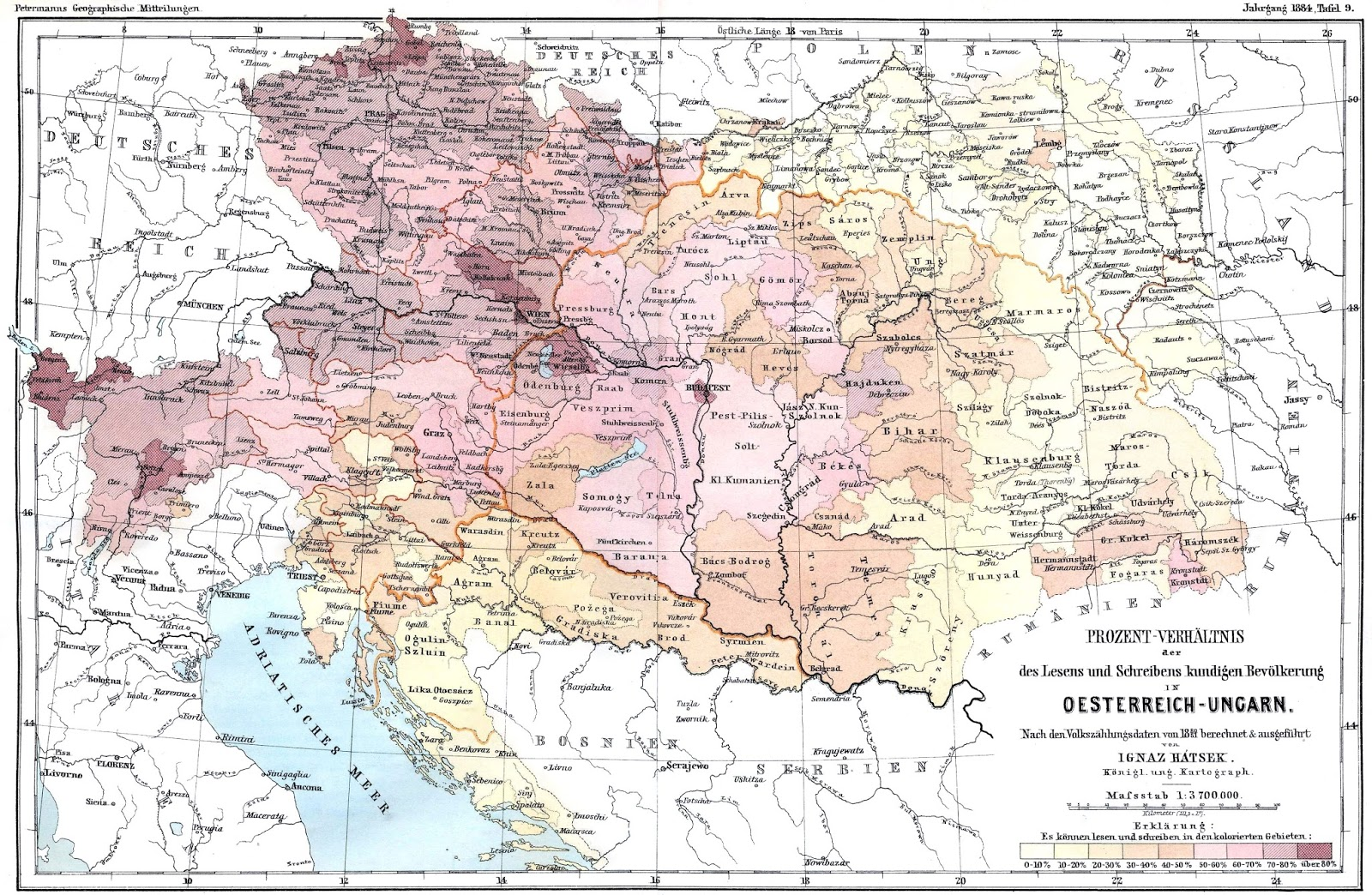 Literacy in Austria-Hungary (1880)