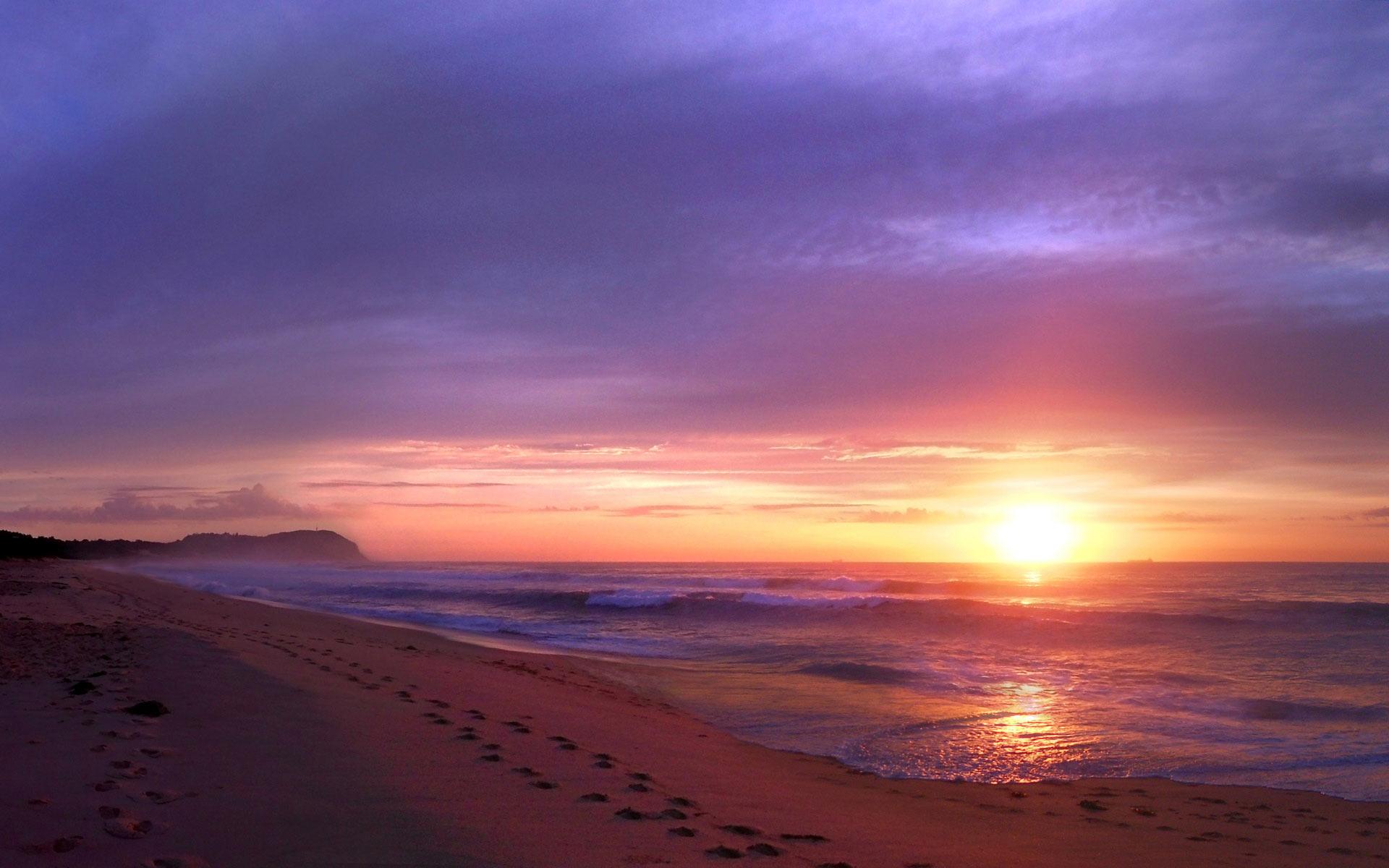 Pôr do Sol Praia na Austrália - Papel de Parede Grátis para PC e Celular b81772c1af
