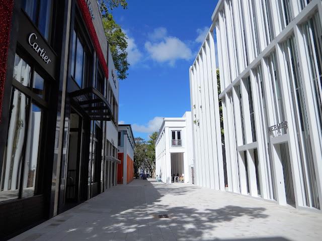 Calle del centro comercial Miami Design District