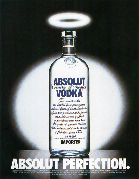 Absolut Vodka first advertising