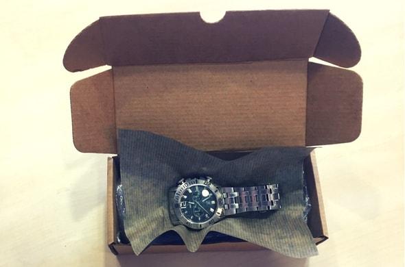 cajas para envios de tiendas online relojes