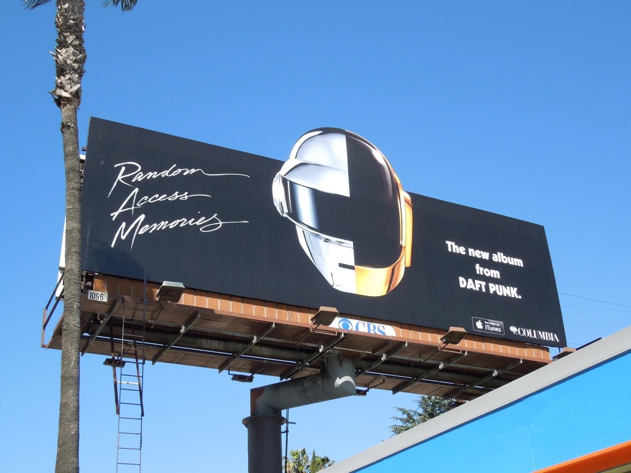 Daily Billboard Daft Punk Random Access Memories Album