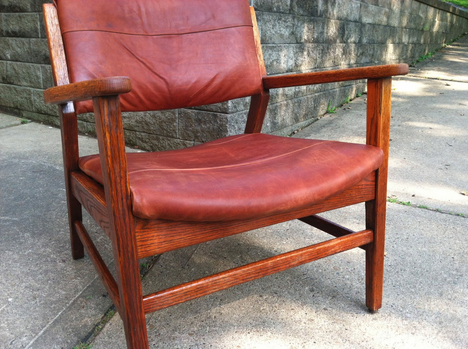 Mcm Chair Mcm Leather Slung Arm Chair Sold Jegs