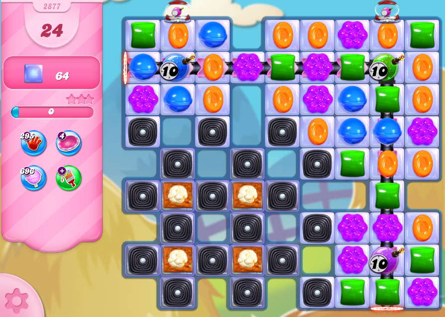 Candy Crush Saga level 2877