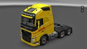 New Volvo FH16 DHL skin by MinJot
