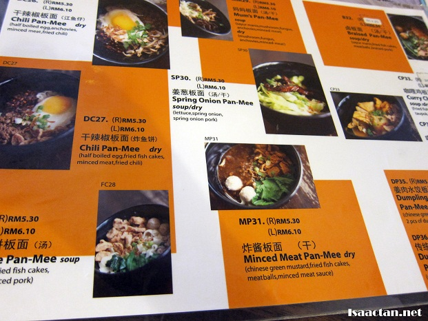 fancy mee wangsa maju menu