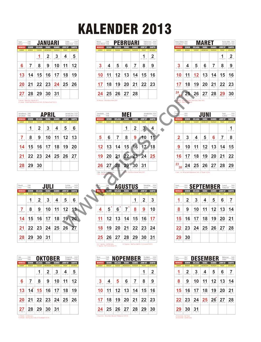 Kalender 2017 Indonesia Cdr : kalender, indonesia, Tanggalan