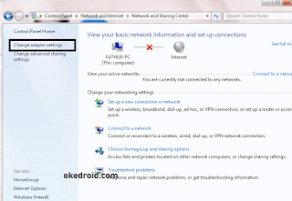 Network and Sharing Center Windows 7