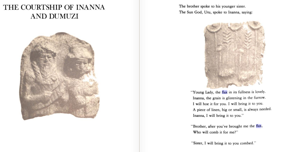 The courtship of inanna and dumuzi