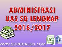 Download Administrasi UAS SD Lengkap Tahun Ajar 2016/2017