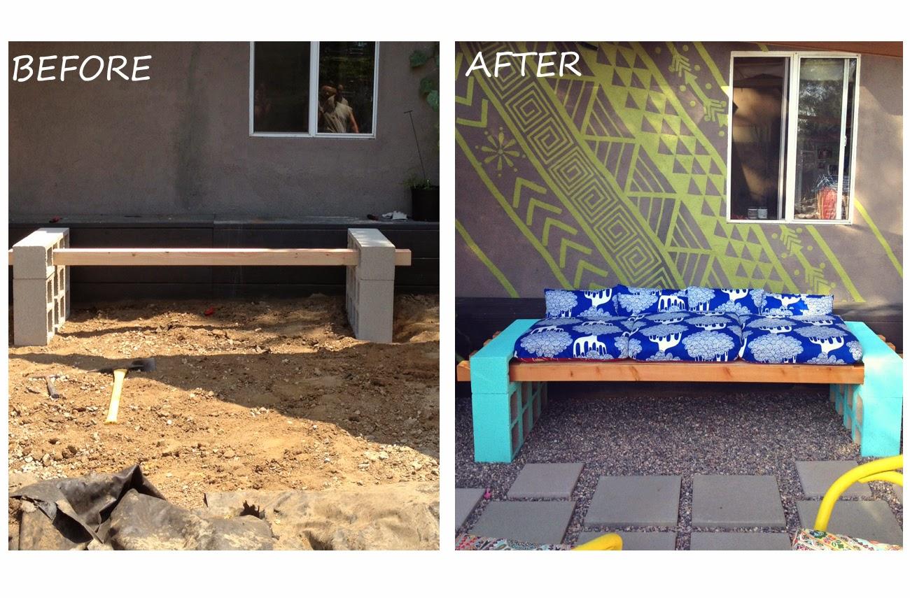 Initiales GG DIY un canapé en parpaing pour votre jardin