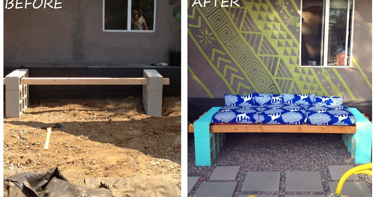 initiales gg diy un canap en parpaing pour votre jardin. Black Bedroom Furniture Sets. Home Design Ideas
