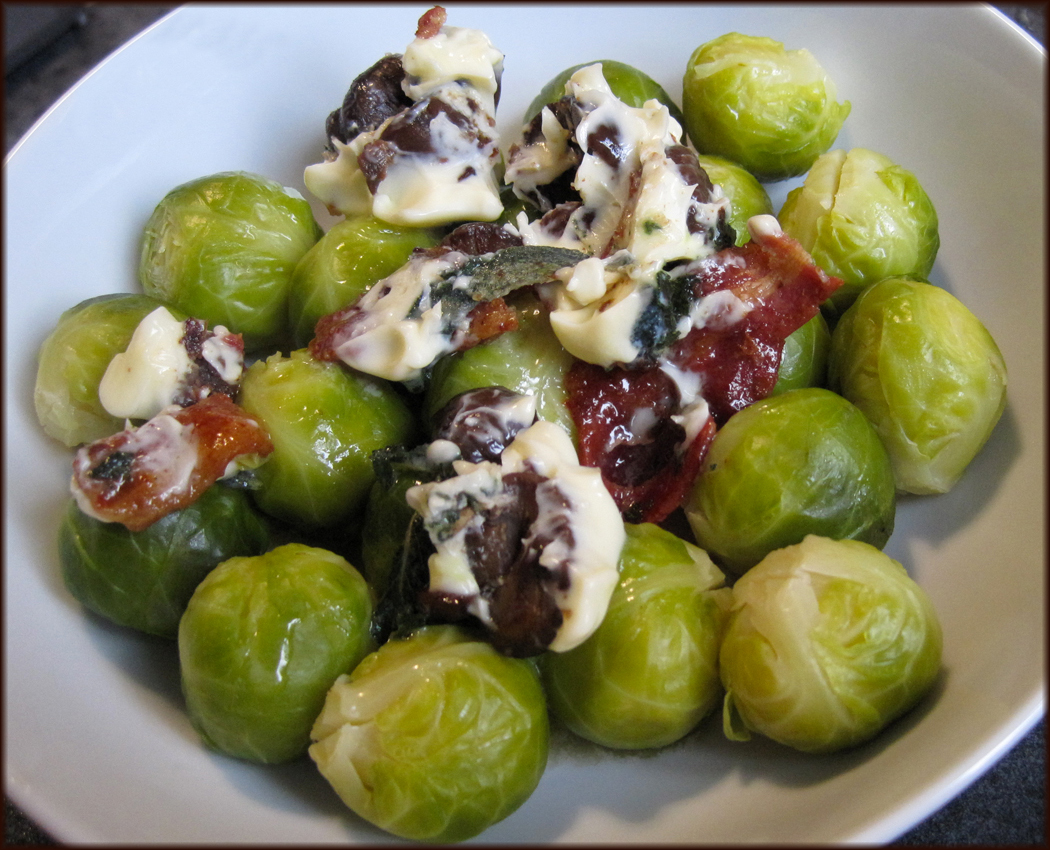 Brussels sprouts with bacon chestnut and sage butter