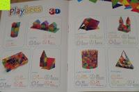 Anleitung: Playbees 100 Teile Magnetische Bausteine Set für 2D und 3D Form Konstruktionen, Regenbogenfarben Magnetspielzeug, Baukasten Magnetspiel, Magnetbausteine
