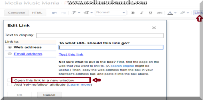 How to Open All External Blogger Links to New Window